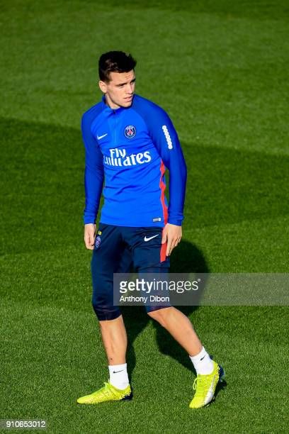Giovani Lo Celso of PSG during training session of Paris Saint Germain PSG at Camp des Loges on January 26 2018 in Paris France