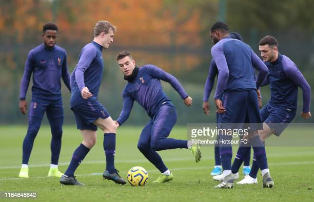 Giovani Lo Celso of Tottenham Hotspur during the Tottenham Hotspur training session at Tottenham Hotspur Training Centre on November 01 2019 in...