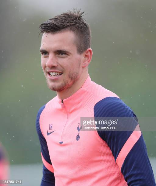 Giovani Lo Celso of Tottenham Hotspur during the Tottenham Hotspur training session at Tottenham Hotspur Training Centre on May 13, 2021 in Enfield,...