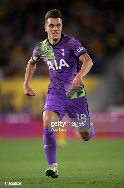 Giovani Lo Celso of Tottenham Hotspur in action during the Carabao Cup Third Round match between Wolverhampton Wanderers and Tottenham Hotspur at...