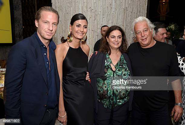 Giovanna Battaglia Aby Rosen and guests attend Aby Rosen and Samantha Boardman Host Their Annual Dinner at The Dutch W Hotel South Beach on December...