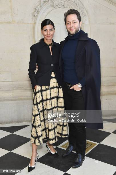 Giovanna Battaglia and Derek Blasberg attend the Dior Haute Couture Spring/Summer 2020 show as part of Paris Fashion Week on January 20, 2020 in...