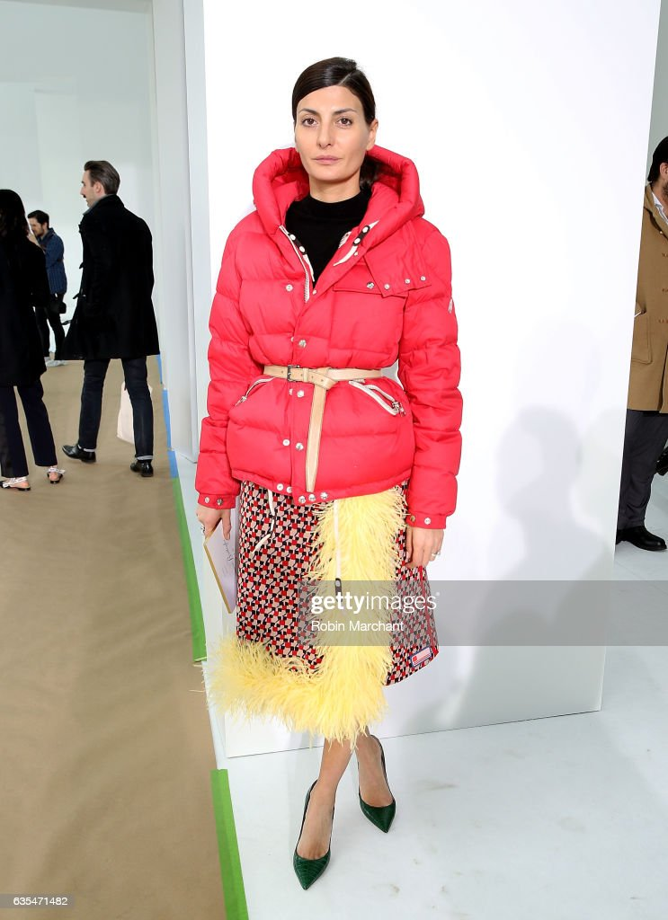 Giovanna Battaglia attends Delpozo during New York Fashion Week at Pier 59 Studios on February 15, 2017 in New York City.