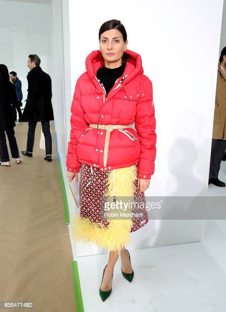 Giovanna Battaglia attends Delpozo during New York Fashion Week at Pier 59 Studios on February 15 2017 in New York City