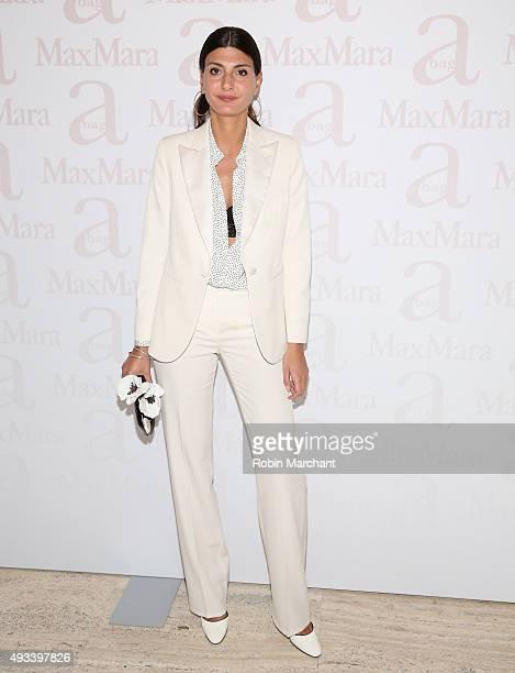 Giovanna Battaglia attends Max Mara Spring/Summer 2016 Accessories Campaign Celebration at Four Seasons Restaurant on October 19 2015 in New York City