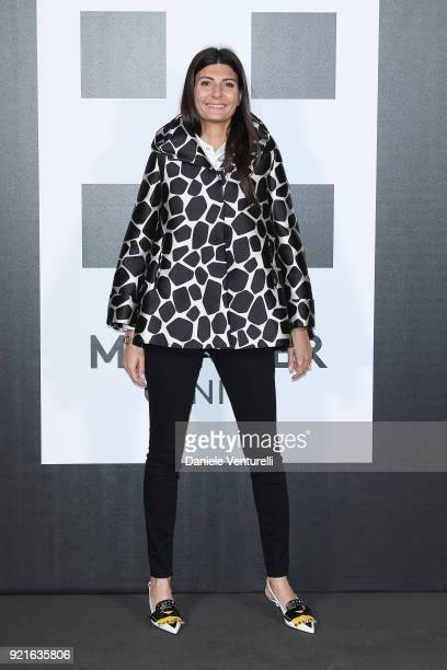Giovanna Battaglia attends Moncler Genius during Milan Fashion Week on February 20 2018 in Milan Italy