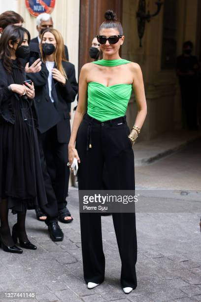 Giovanna Battaglia attends the Balenciaga Haute Couture Fall/Winter 2021/2022 show as part of Paris Fashion Week on July 07, 2021 in Paris, France.