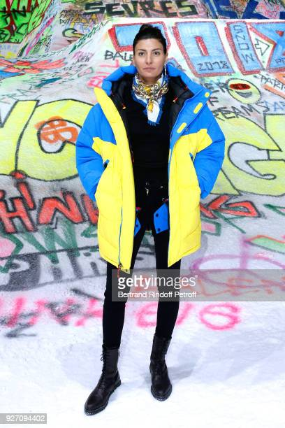 Giovanna Battaglia attends the Balenciaga show as part of the Paris Fashion Week Womenswear Fall/Winter 2018/2019 on March 4 2018 in Paris France