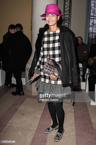 Giovanna Battaglia attends the Carven show as part of the Paris Fashion Week Womenswear Fall/Winter 2014-2015 on February 27, 2014 in Paris, France.