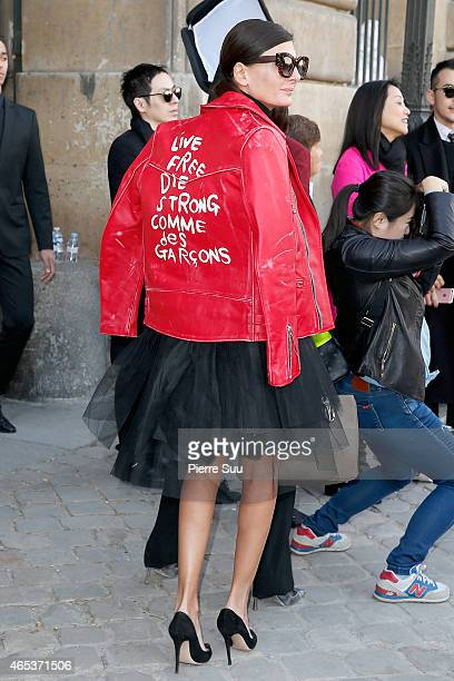 Giovanna Battaglia attends the Christian Dior show as part of the Paris Fashion Week Womenswear Fall/Winter 2015/2016 >> on March 6 2015 in Paris...