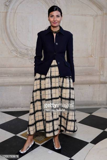 Giovanna Battaglia attends the Dior Haute Couture Spring/Summer 2020 show as part of Paris Fashion Week on January 20, 2020 in Paris, France.