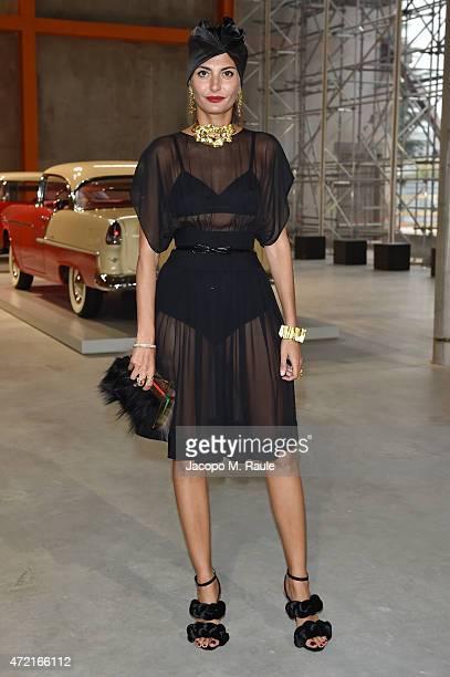 Giovanna Battaglia attends the Fondazione Prada Opening on May 4 2015 in Milan Italy