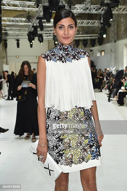 Giovanna Battaglia attends the Giambattista Valli Haute Couture Fall/Winter 20162017 show as part of Paris Fashion Week on July 4 2016 in Paris France