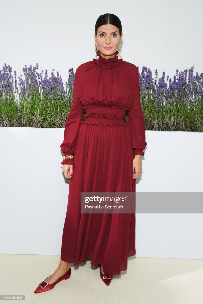 Giovanna Battaglia attends the Giambattista Valli Haute Couture Fall Winter 2018/2019 show as part of Paris Fashion Week on July 2, 2018 in Paris, France.