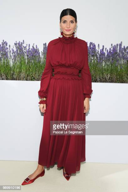 Giovanna Battaglia attends the Giambattista Valli Haute Couture Fall Winter 2018/2019 show as part of Paris Fashion Week on July 2, 2018 in Paris,...