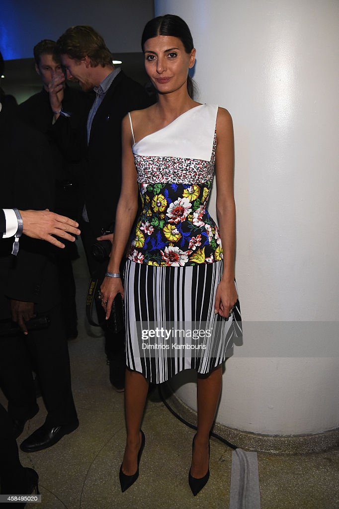 Giovanna Battaglia attends the Guggenheim International Gala Pre-Party made possible by Dior on November 5, 2014 in New York City.