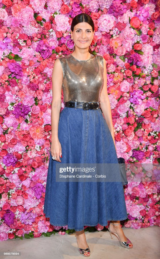 Giovanna Battaglia attends the Schiaparelli Haute Couture Fall/Winter 2018-2019 show as part of Haute Couture Paris Fashion Week on July 2, 2018 in Paris, France.