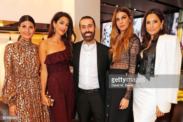 Giovanna Battaglia Engelbert Amal Clooney Giambattista Valli Bianca Brandolini d'Adda and Astrid Munoz attend the Giambattista Valli London store...