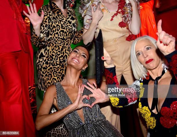 Giovanna Battaglia Engelbert and Linda Fargo attend Giovanna Battaglia Engelbert 'Giography' Book Launch at Bergdorf Goodman on September 8 2017 in...