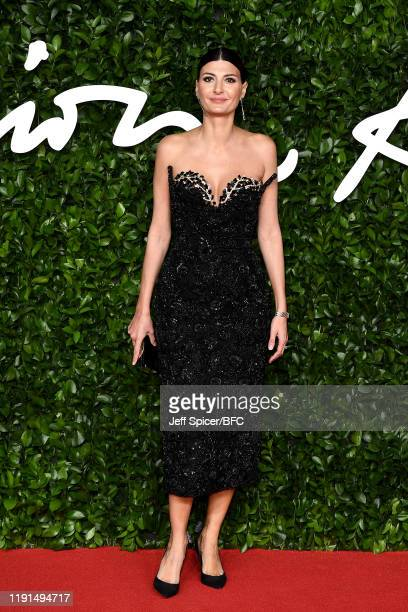 Giovanna Battaglia Engelbert arrives at The Fashion Awards 2019 held at Royal Albert Hall on December 02 2019 in London England