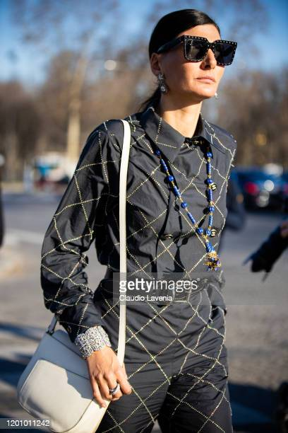 Giovanna Battaglia Engelbert attends the Chanel Haute Couture Spring/Summer 2020 show as part of Paris Fashion Week on January 21, 2020 in Paris,...
