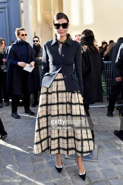 Giovanna Battaglia Engelbert attends the Dior Haute Couture Spring/Summer 2020 show as part of Paris Fashion Week on January 20, 2020 in Paris,...