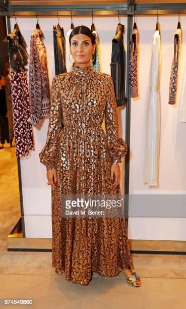 Giovanna Battaglia Engelbert attends the Giambattista Valli London store opening on Sloane Street on June 14 2018 in London England