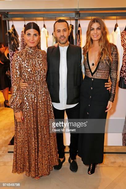 Giovanna Battaglia Engelbert Farid Rebbali and Bianca Brandolini d'Adda attend the Giambattista Valli London store opening on Sloane Street on June...