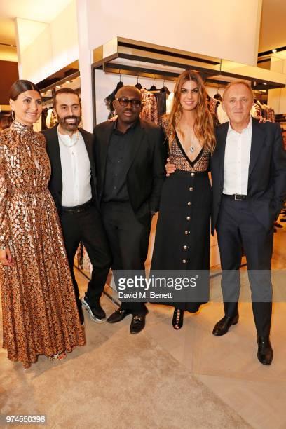 Giovanna Battaglia Engelbert Giambattista Valli Edward Enninful Bianca Brandolini d'Adda and FrancoisHenri Pinault attend the Giambattista Valli...