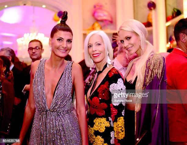 Giovanna Battaglia Engelbert Linda Fargo and Poppy Delevingne attend Giovanna Battaglia Engelbert 'Giography' Book Launch at Bergdorf Goodman on...