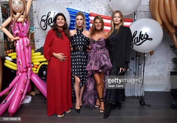 Giovanna Battaglia Engelbert Nicky Hilton Rothschild Anna Dello Russo and Charlott Cordes as Saks celebrates AdR Book Beyond Fashion By Anna Dello...