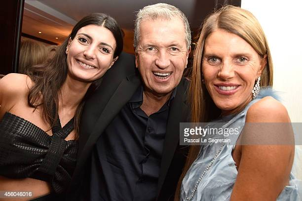 Giovanna Battaglia Mario Testino and Anna Dello Russo attend the Buro 24/7 Fashion Forward Initiative Presenting Natalia Alaverdian Founder and...