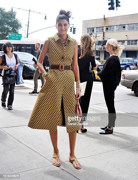 Giovanna Battaglia seen at the Prabal Gurung show on September 8 2012 in New York City