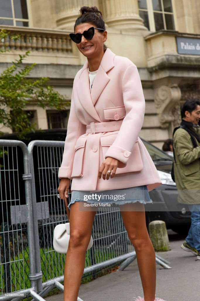 Giovanna Battaglia seen outside Sacai during Paris Fashion Week Spring Summer  2018 on 2nd October 56aef7be6920