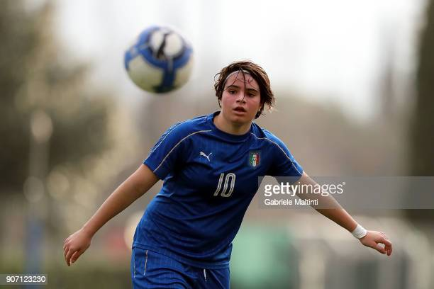 Giovanna Coghetto of Italy u16 women in action during the U16 Women friendly match between Italy U16 and Slovenia U16 at Coverciano on January 19...