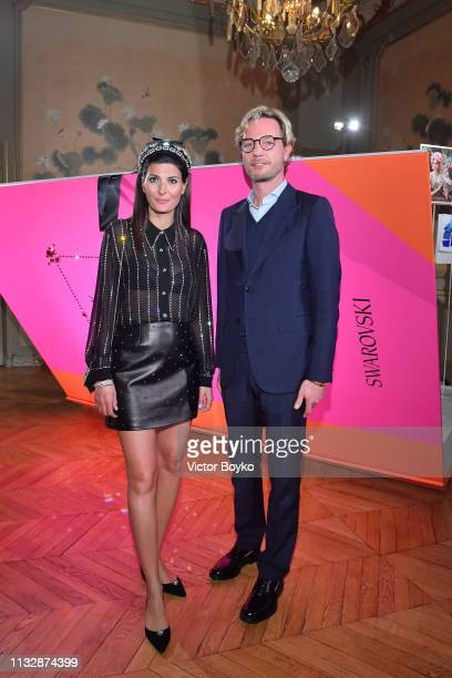 Giovanna Engelbert and Markus Langes-Swarovski attend Book of Dreams Vol.2 Launch and Cocktail at Hotel D'Evreux on February 28, 2019 in Paris,...