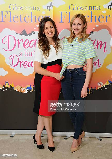 Giovanna Fletcher and Hannah Tointon attend the launch of Giovanna Fletcher's 'Dream A Little Dream' at on June 18 2015 in London England