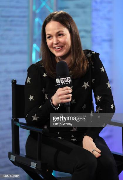 Giovanna Fletcher joins BUILD for a live interview at their London studio at AOL on February 22 2017 in London United Kingdom