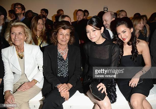 Giovanna Gentile Ferragamo Fulvia Visconti Ferragamo Michelle Chen and Janie Tienphosuwan attend the Salvatore Ferragamo show as part of Milan...