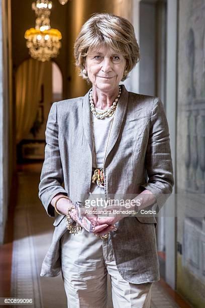 Giovanna Gentile Ferragamo poses at the Ferragamo Luxury Brand headquarters at Palazzo Spini Feroni on July 18 2016 in Florence Italy The Palazzo was...