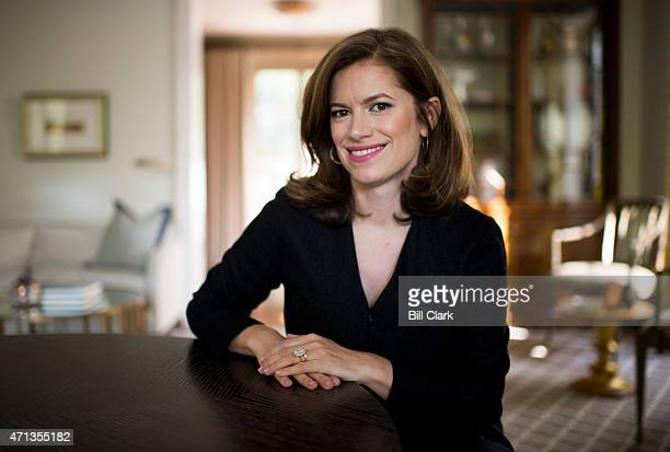 Giovanna Gray Lockhart Washington editor of Glamour magazine poses in her home in Washington on Friday April 24 2015