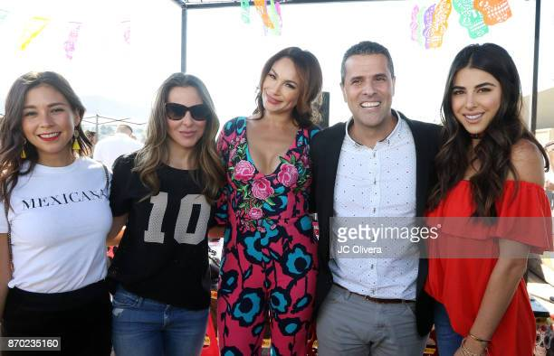 Giovanna Mendoza Kate Del Castillo Patricia De Leon Marco Antonio Regil and Daniella Monet attend PETA Latino's 'PETA Food Fight Vegan Chilaquiles...