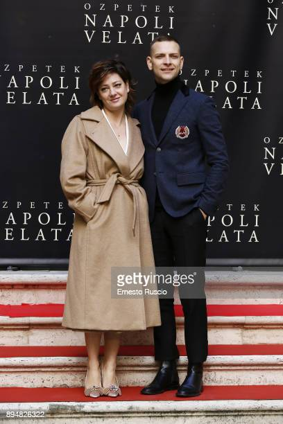 Giovanna Mezzogiorno and Alessandro Borghi attend Napoli Velata photocall on December 18 2017 in Rome Italy
