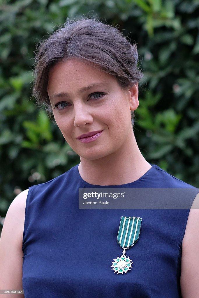 Actress Giovanna Mezzogiorno Is Awarded Chevalier Des Arts Et Des Lettres