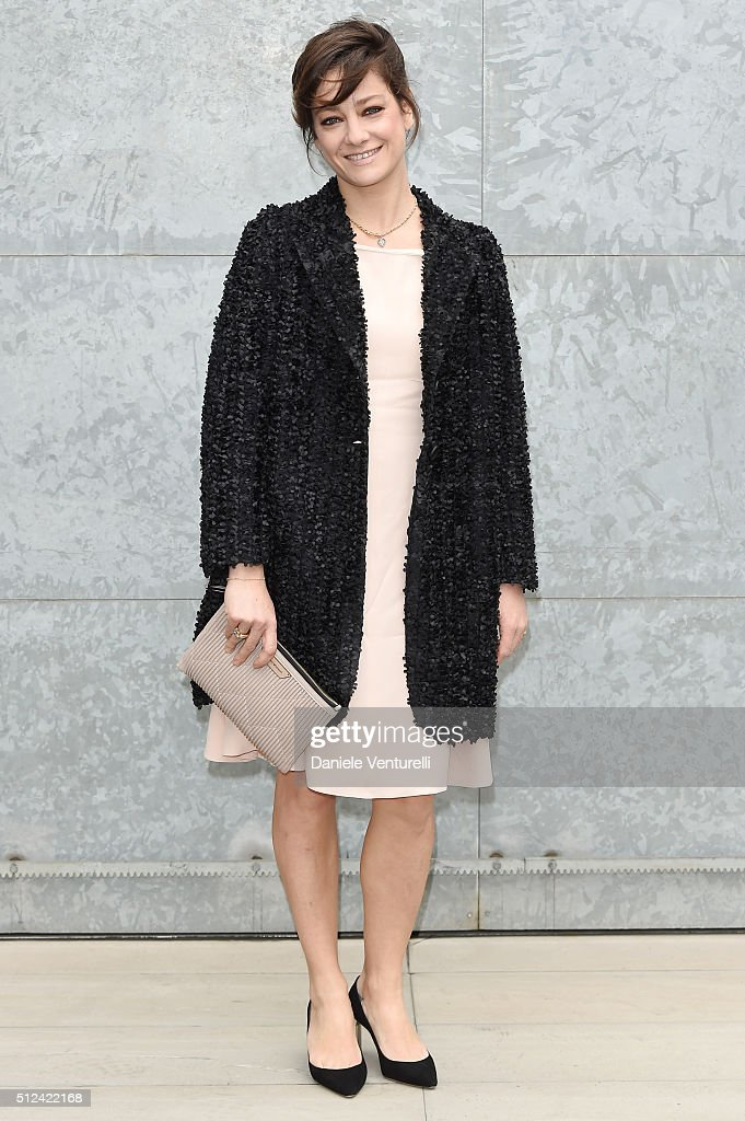 Giovanna Mezzogiorno attends the Emporio Armani show during Milan Fashion Week Fall/Winter 2016/17 on February 26, 2016 in Milan, Italy.