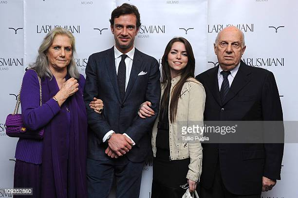 Giovanna Miani Guglielmo Miani Alice Etro and Riccardo Miani attend the Larusmiani Soteby's charity auctions on February 22 2011 in Milan Italy
