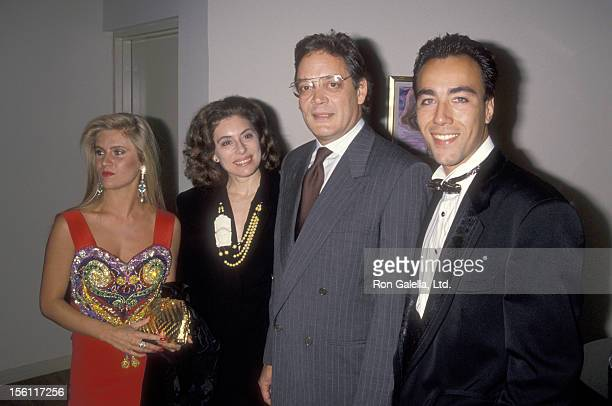 Giovanna Quinn Actor Raul Julia and wife Merel Poloway and Lorenzo Quinn attend the Unveiling of Lorenzo Quinn's Sculptures and Oil Paintings...