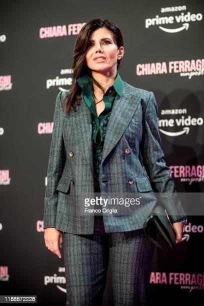 Giovanna Rei attends the premiere of the movie Chiara Ferragni Unposted at the Auditorium della Conciliazione on November 19 2019 in Rome Italy