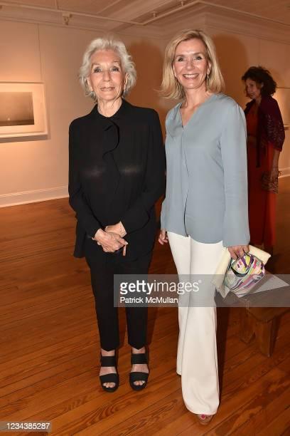 "Giovannella San Giuliano and Antonia Paterno-Castello attend the release of Christophe von Hohenberg's new book ""The White Album of The Hamptons"" and..."