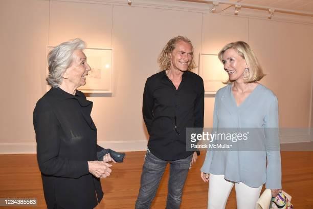"""Giovannella San Giuliano, Gabriele Vigorelli and Antonia Paterno-Castello attend the release of Christophe von Hohenberg's new book """"The White Album..."""